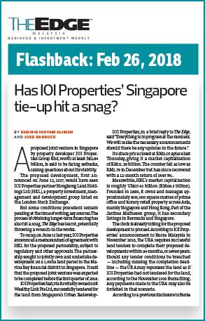 Ioi Prop Scraps Agreement With Hongkong Land The Edge Markets