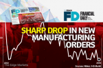 Sharp decline in new orders push PMI to 5-month low