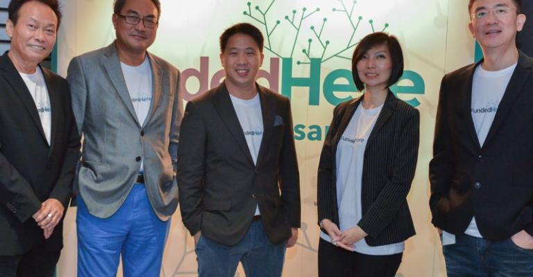 The FundedHere team (Left to Right): Stanley Chew, Non-Executive Director; Lai Kwok Kin, Non-Executive Director; Daniel Lin, Partner; Agnes Siaw, Executive Director; Michael Tee, CEO