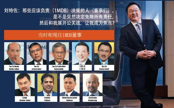 当时和现任1MDB董事