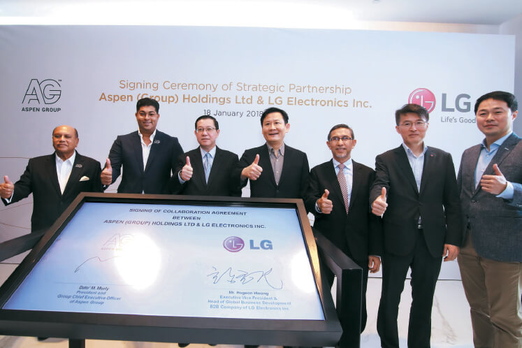 Aspen partners with LG for tech solutions | The Edge Markets