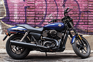 The 2016 Street 750 is the larger of the two models in the Street series.