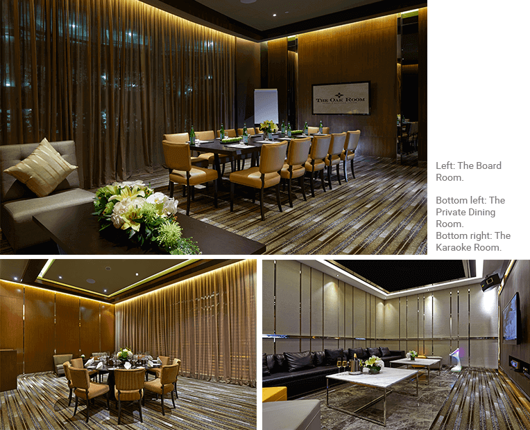 The Board Room, The Private Dining Room, The karaoke Room