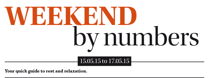 weekend-by-numbers_15-05-15-to-17-05-15