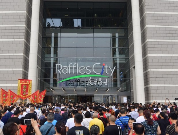 CapitaLand's Raffles City Chongqing saw shopper traffic of 900,000 on opening weekend
