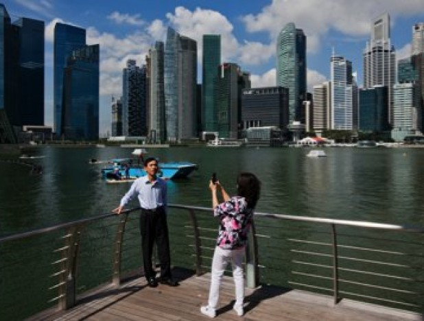 Tourists in Singapore