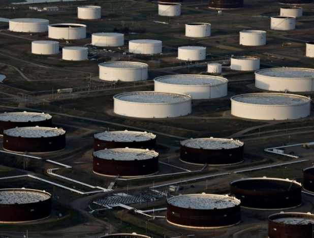 Oil prices in negative territory for first time