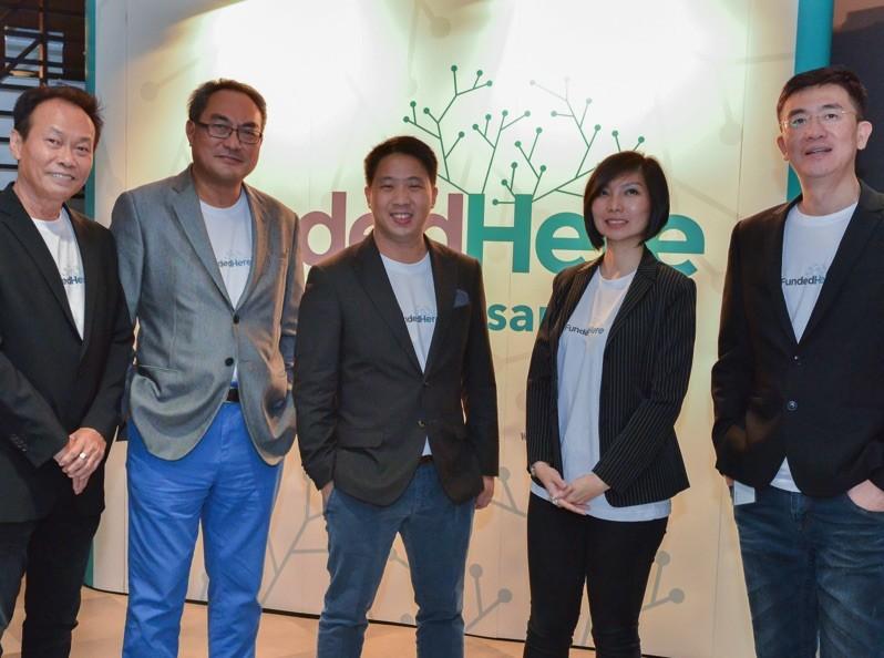 The FundedHere team (Left to Right): Stanley Chew, Non-Executive Director; Lai Kwok Kin, Non-Executive Director; Daniel Lin, Partner; Agnes Siaw, Executive Director; Michael Tee, CEO